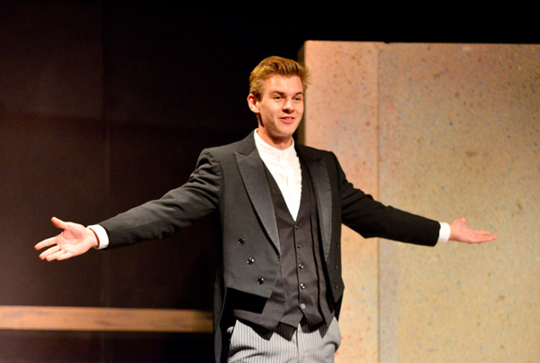 actor on stage during a ten minute play